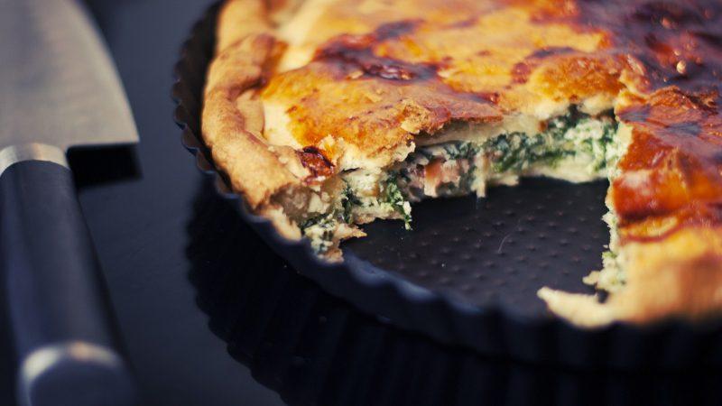 Recette de la tarte aux épinards et saumon