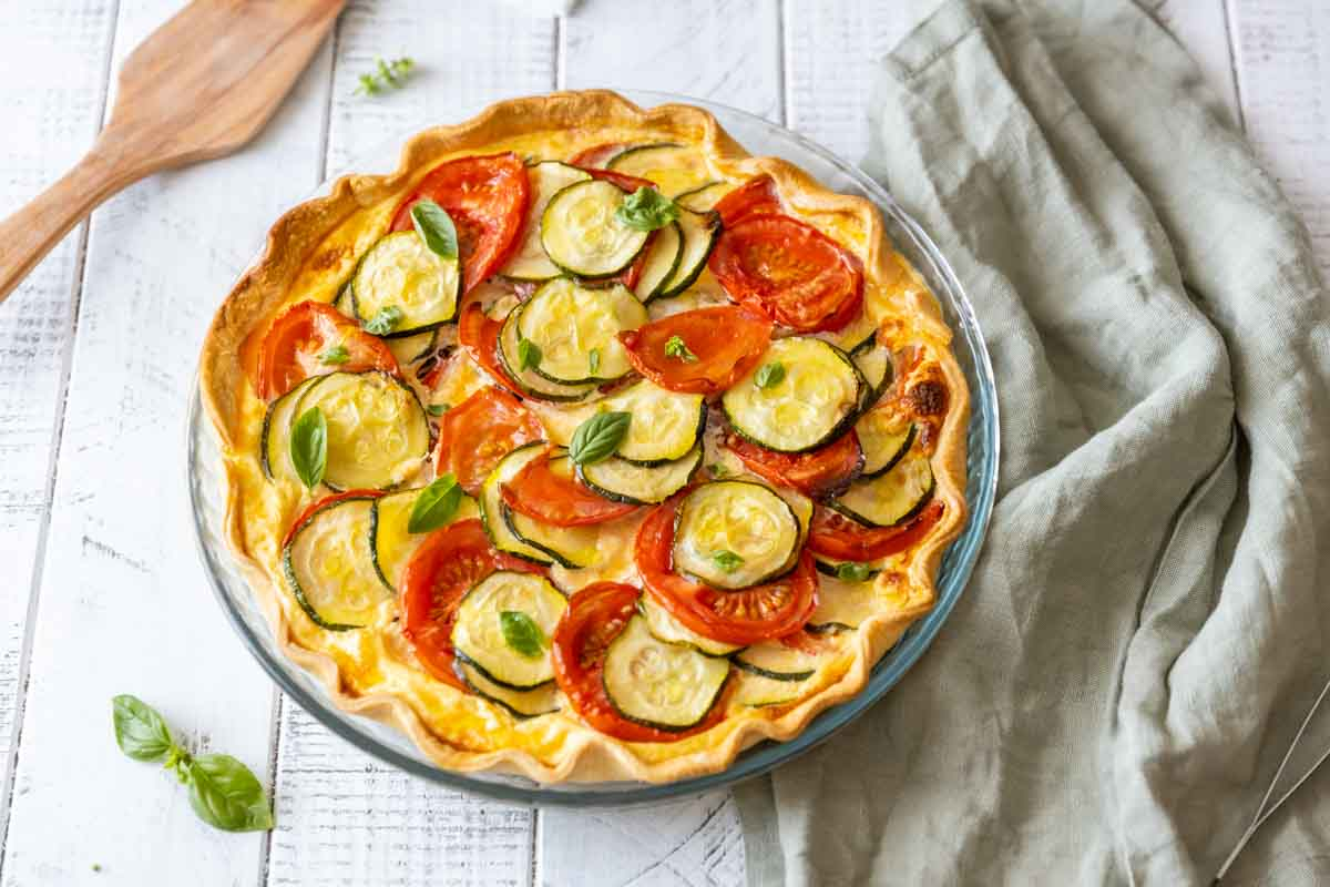 Recette de la tarte courgette tomate